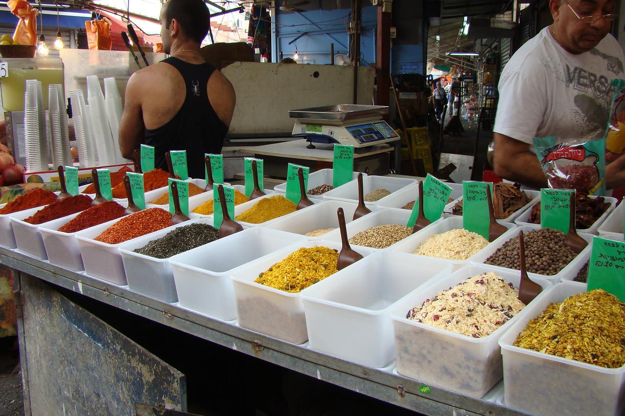 Carmel Market- Spice Stall