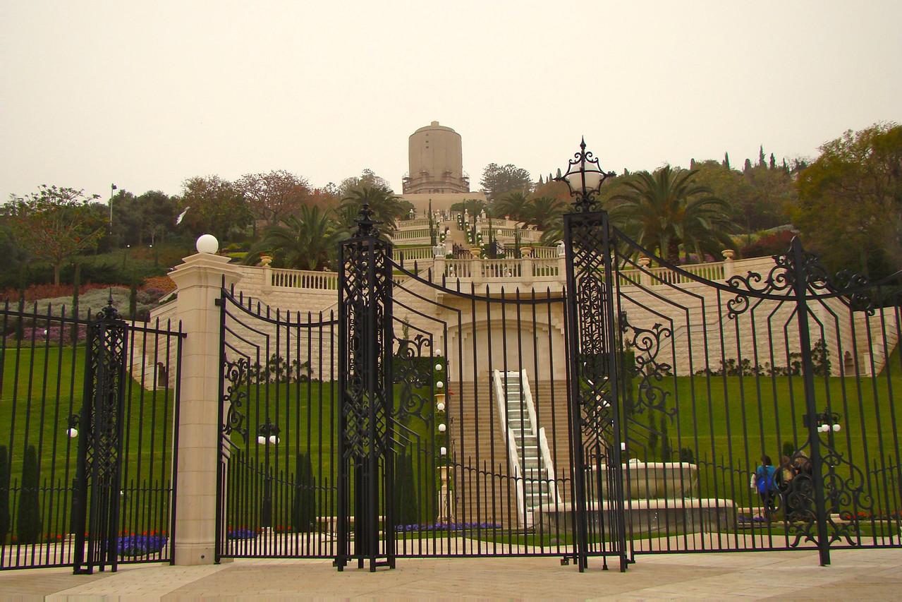 Haifa-B'hai Gardens from Botton