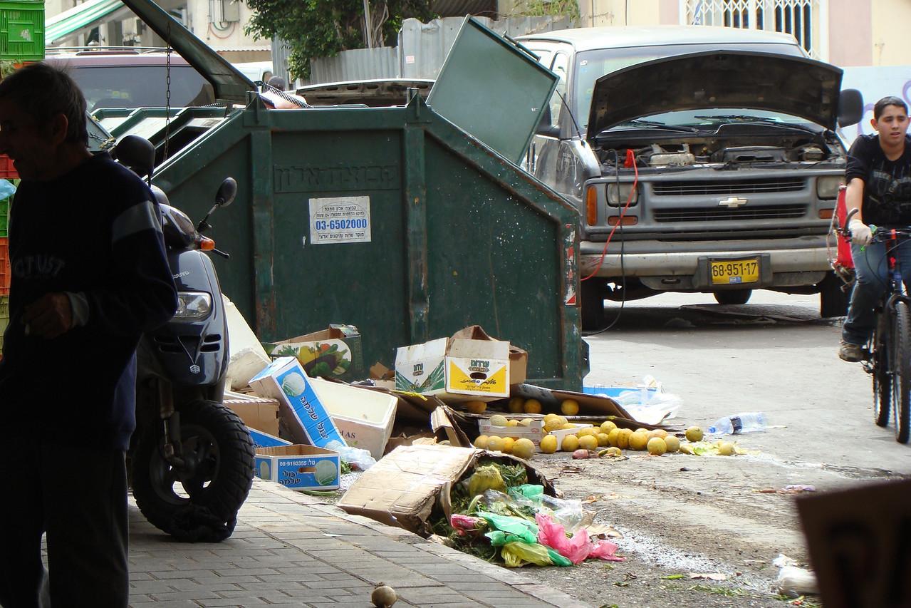 Carmel Market-Trash (Melons Left for Poor)