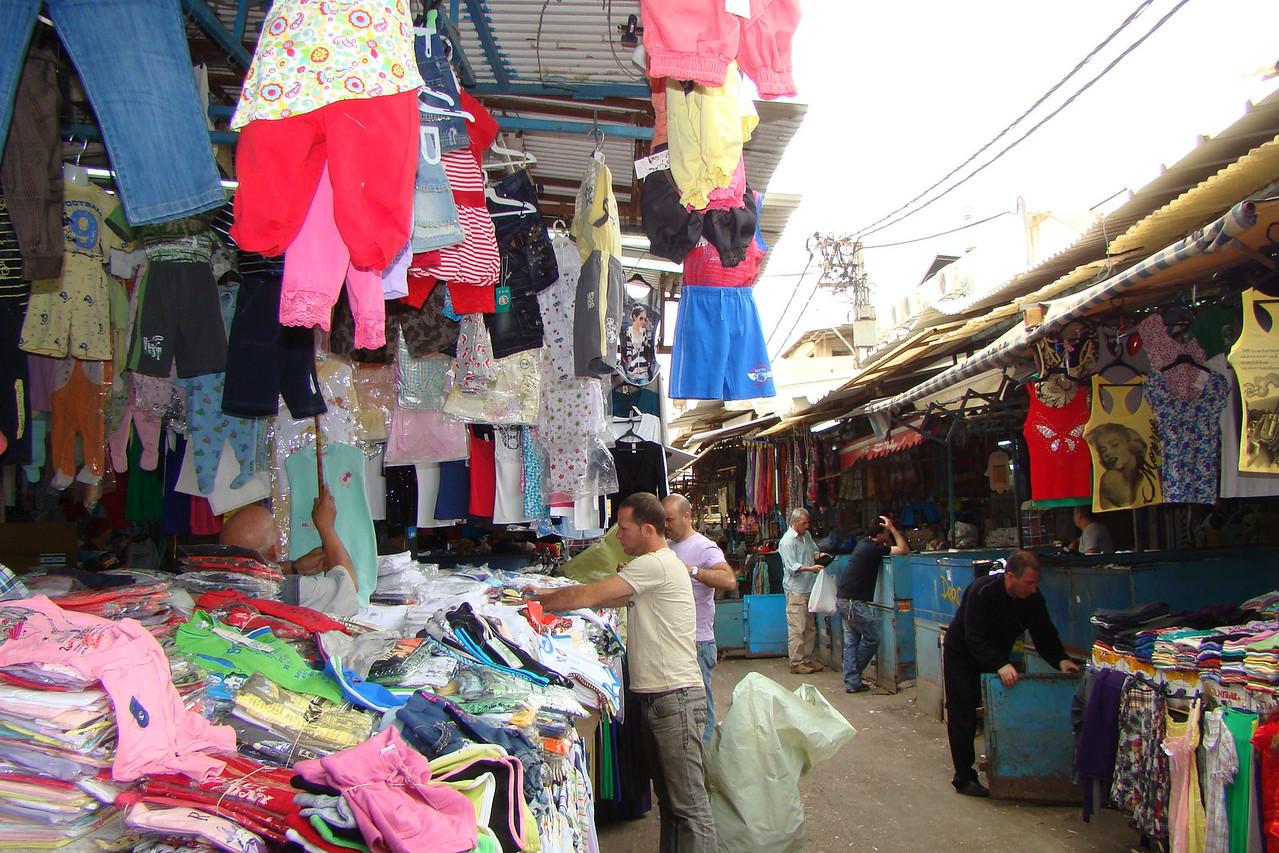 Carmel Market-Clothing Section