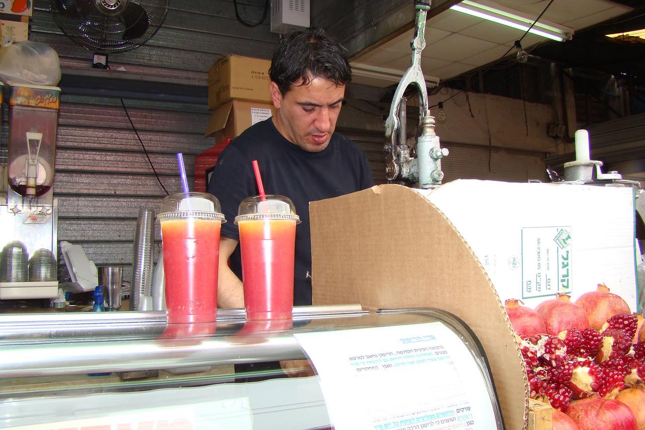 Carmel Market-Pommegranet & OJ Drink