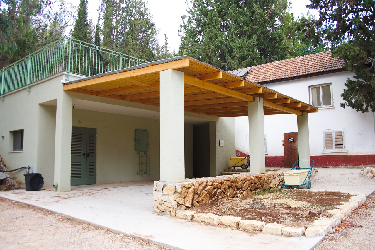 The protected classroom or above ground shelter.