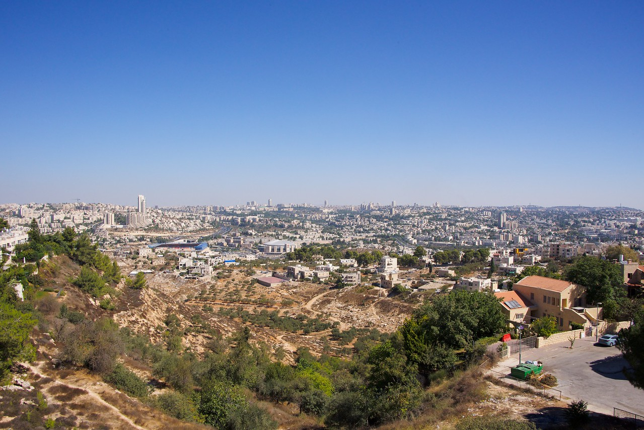 View of Jerusalem from Giloh in East Jerusalem and one of the five Ring Neighborhoods.