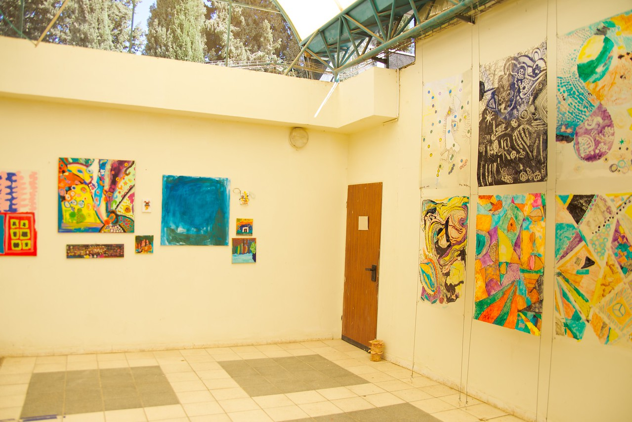 Court yard of Sderot Community Center.