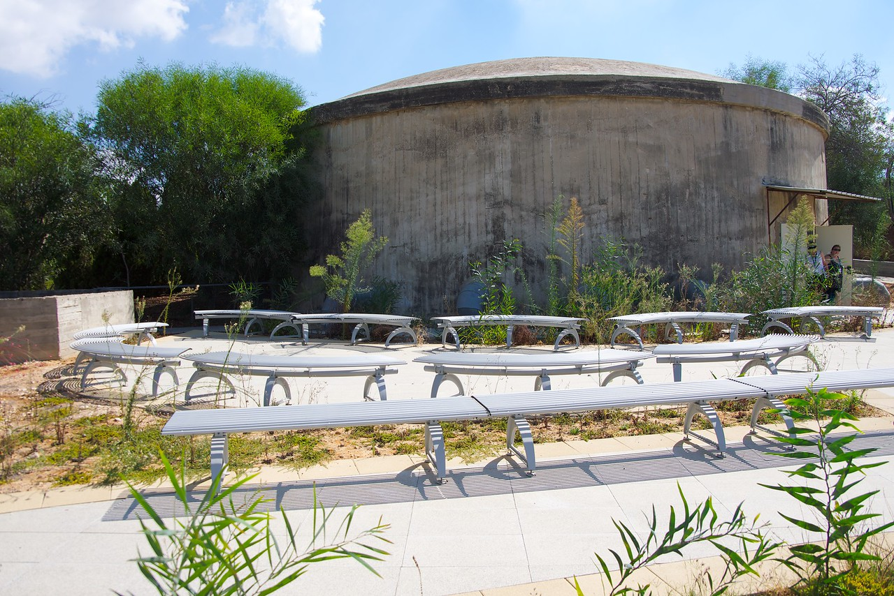 Back of the Museum. Kibbutz Nir Am enabled the establishment of additional settlements causing the UN committee to include the Negev within the Jewish state in the partition plan.