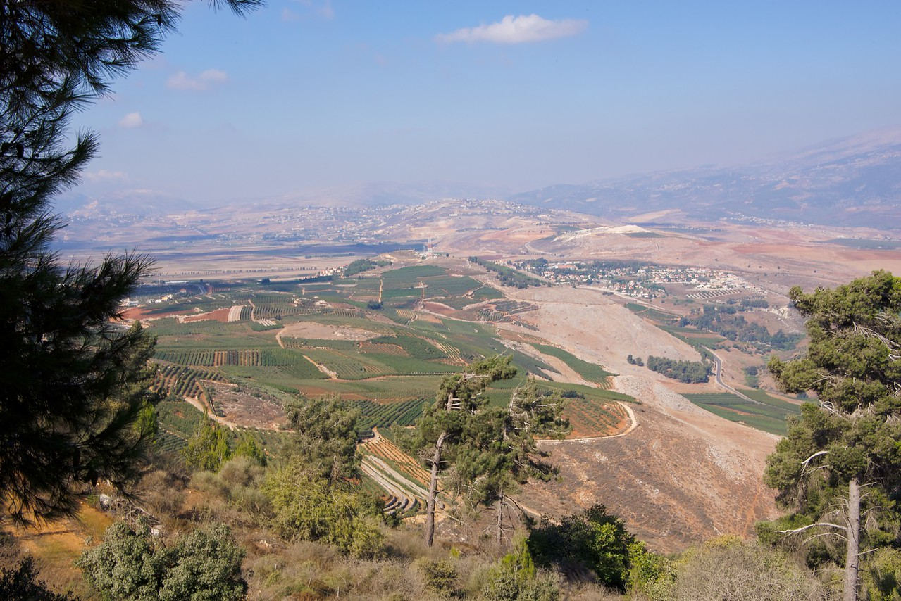 A view of Israel and Lebanon from a vantage point above Metulla.