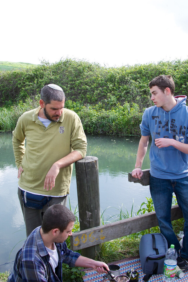 Elad Tavor, our guide and teen counselor (center) with two boys from the Boys At Risk Teen Program