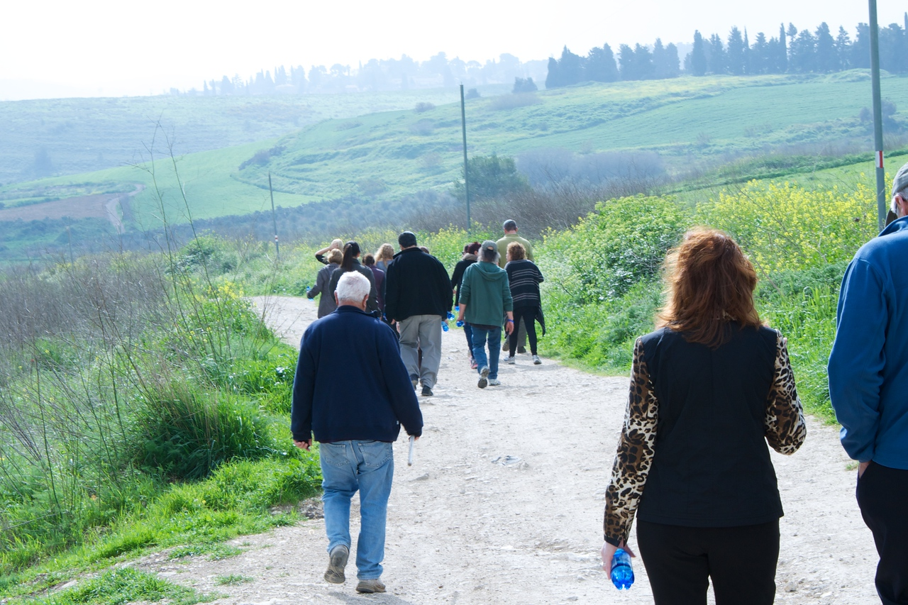 Beginning of Biosphere Nature Walk in Megiddo