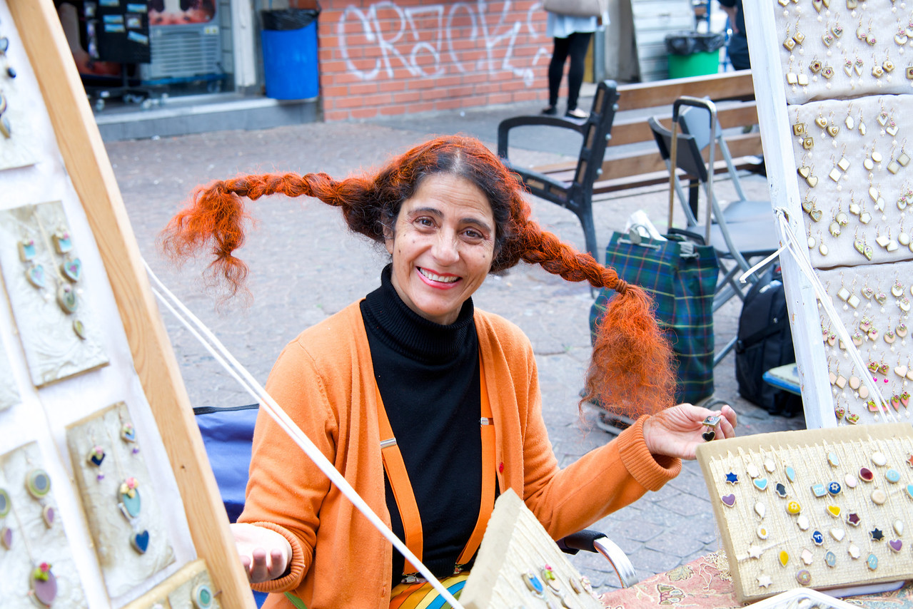 Artist Dressed for Purim