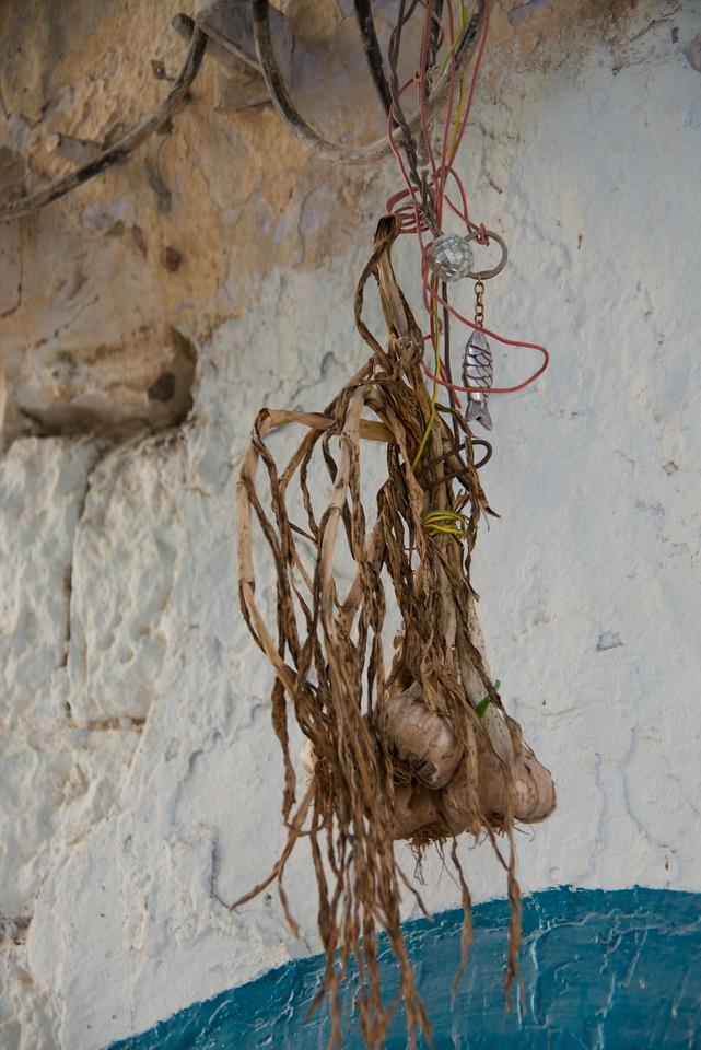 Garlic Hanging Over Doorway To Ward Off Evil Spirits