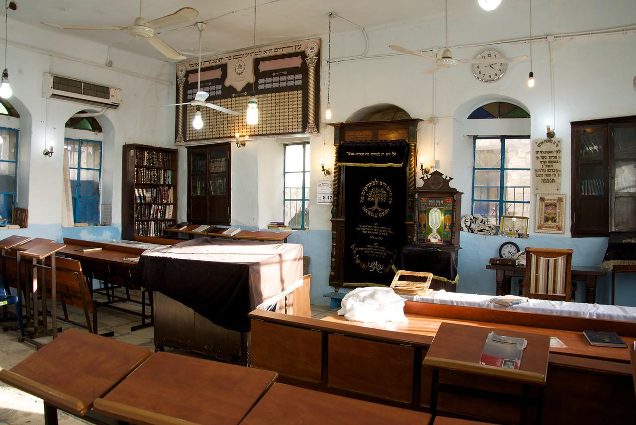 Interior of Kikar Kosov Synagogue in Tsfat (Askenazi)