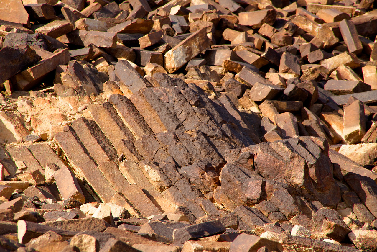 Shape of The Stones of The Carpentry Look Like Stacked Planks of Wood