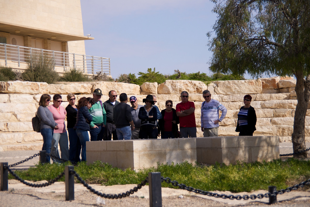 Another Group Visiting Ben Gurion Graves