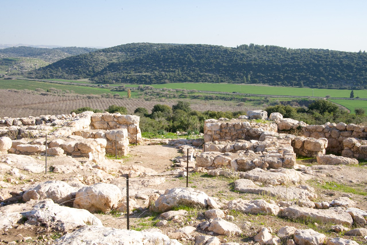 Gate Area of Kayafah Settlement Overlooking Valley of Elah (Where David fought Goliath)