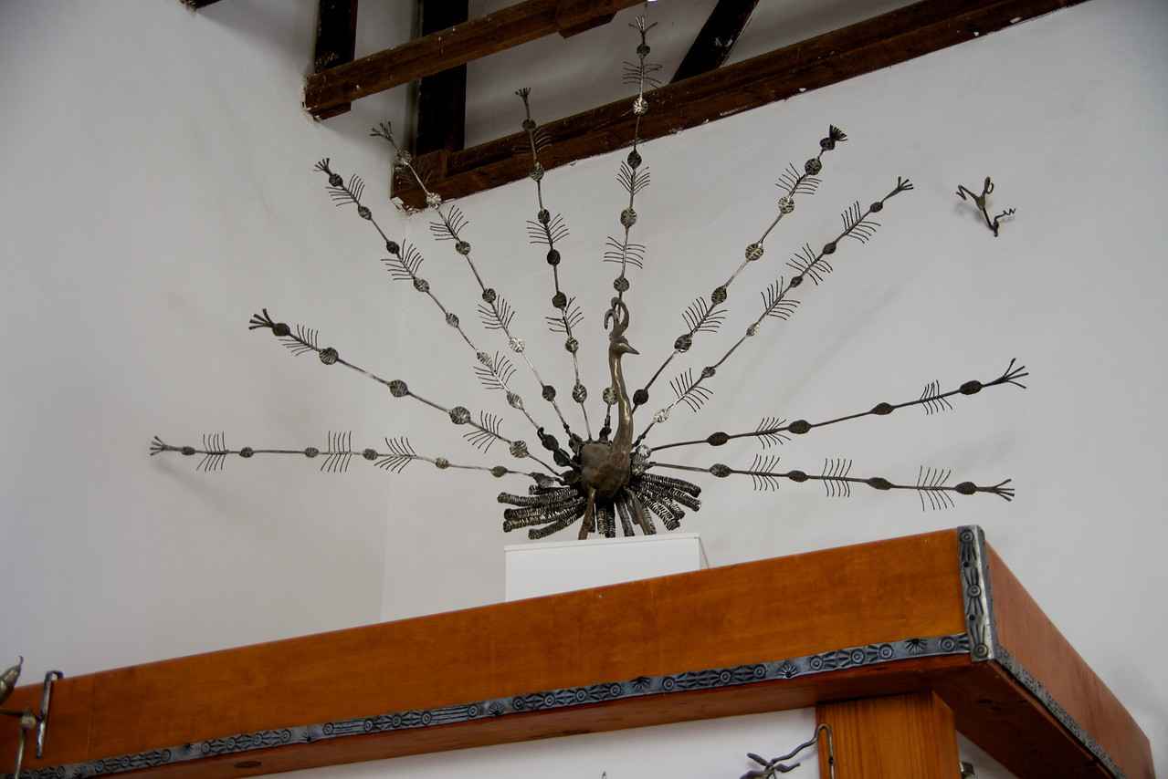 Sculpture Peacock in Moshe Katz' Home