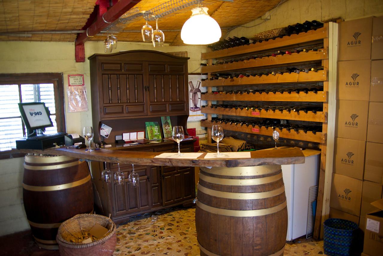 Agur Winery Inside Wine Tasting Bar