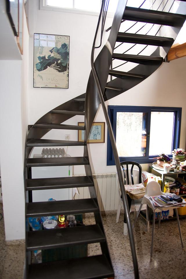 Metal Stair in Katz' Home