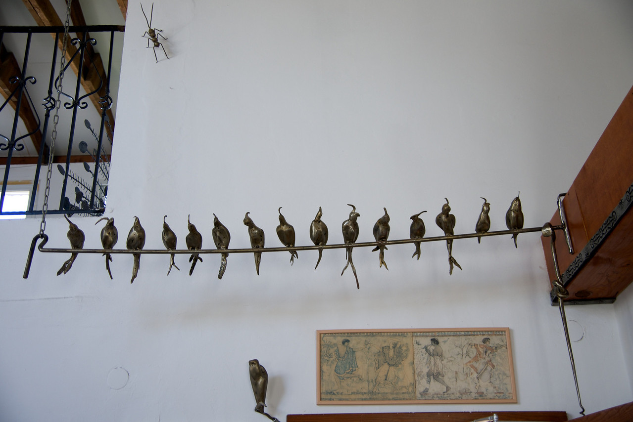 Birds on A Wire    Serves as Door Stop (Far Right)