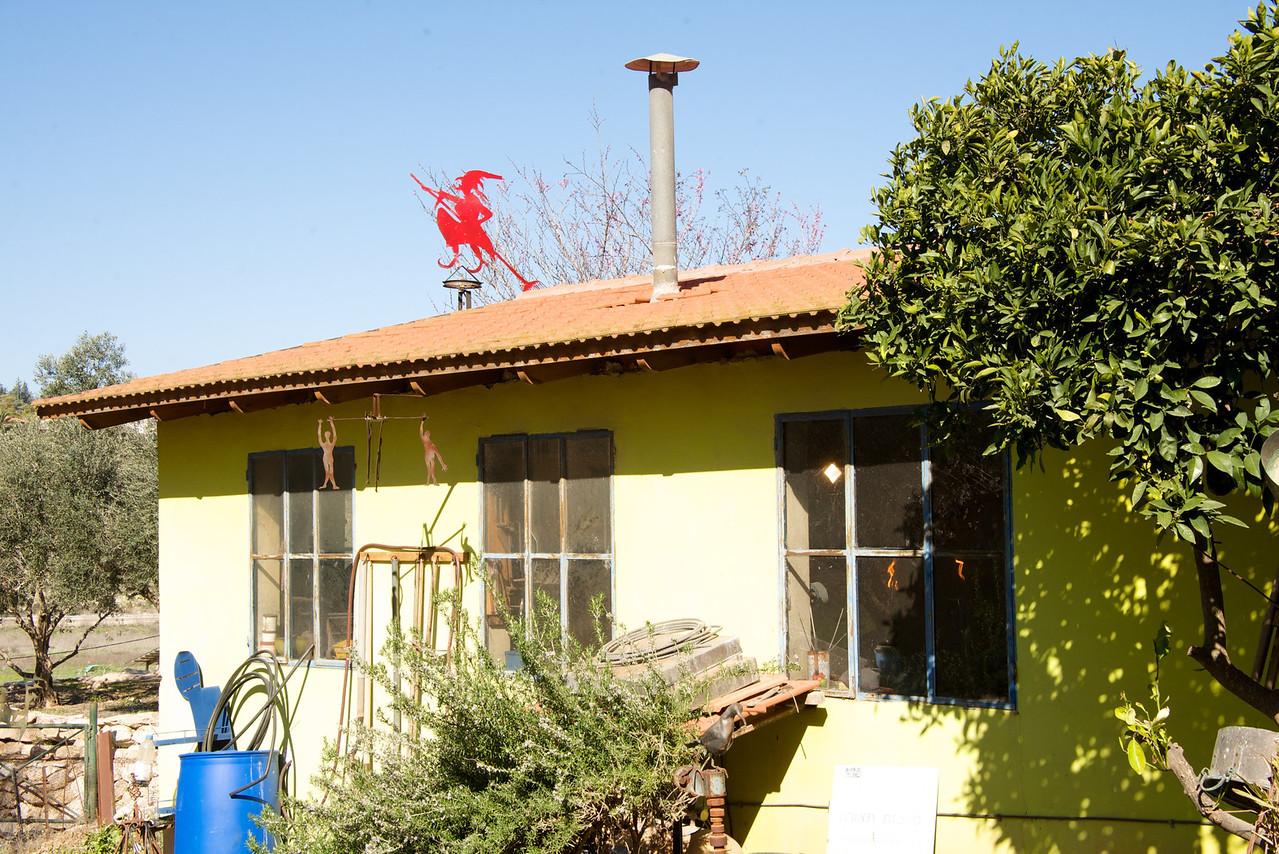 Witch on Roof of Moshe Katz' Studio