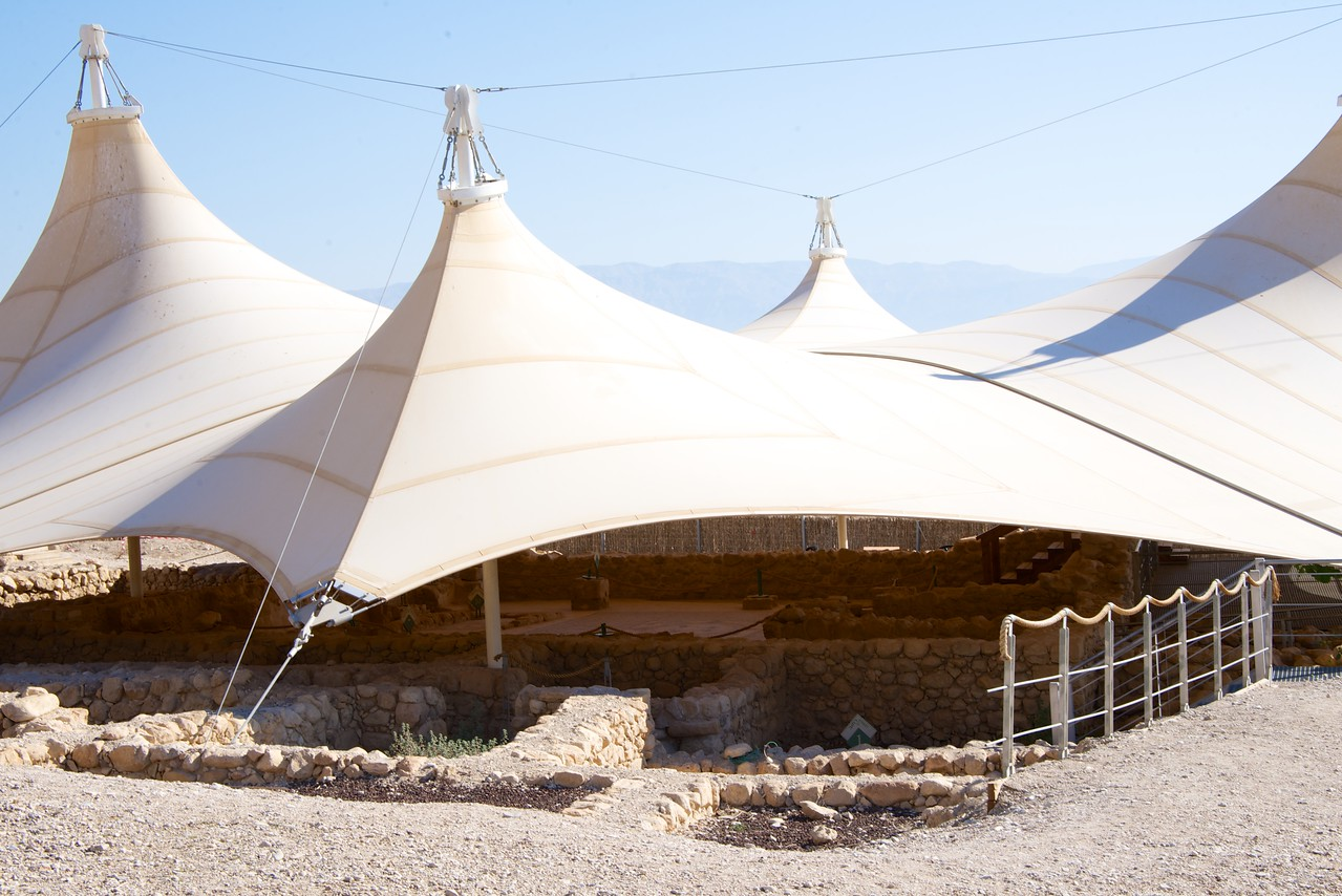 Old Synagogue Remains Protected by Tenting