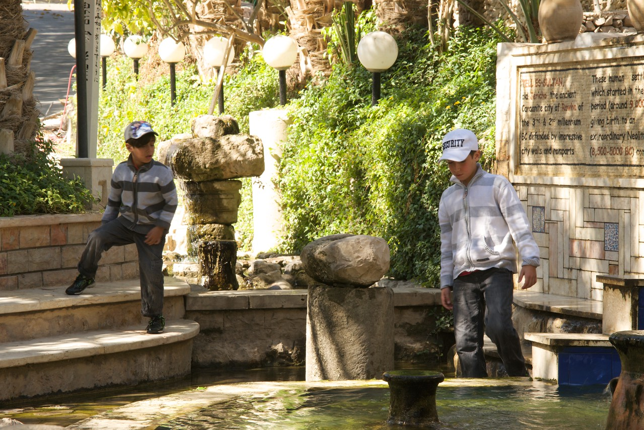 Boys Playing In The Fountain