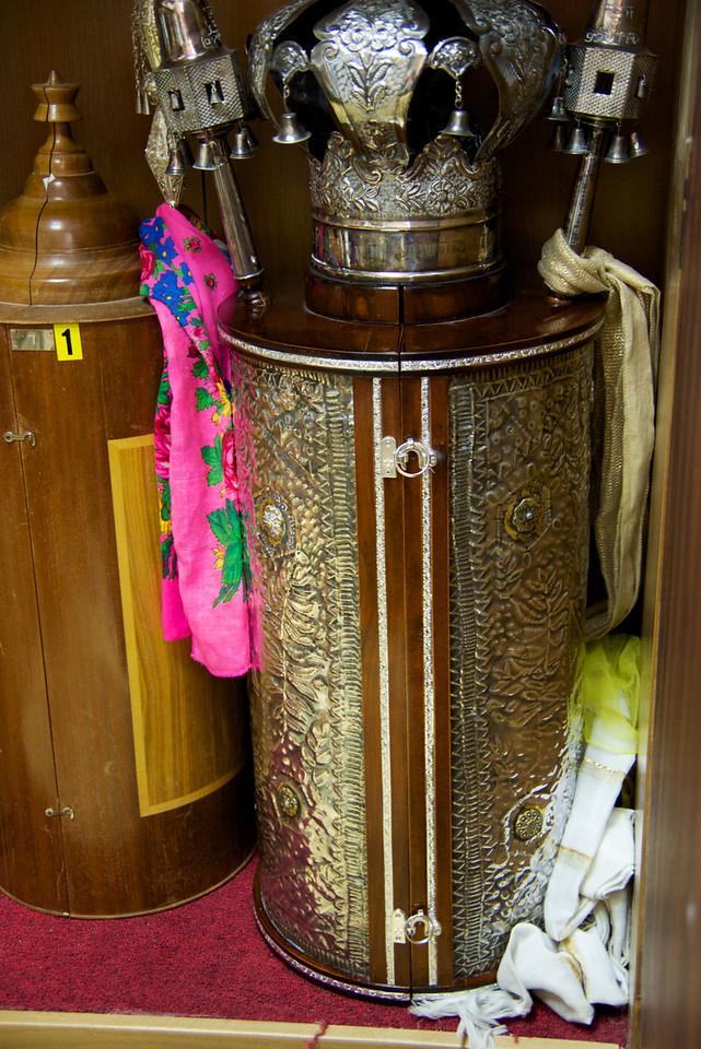 Oldest of 24 Torahs in The Ark
