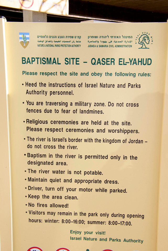 It is the traditional spot where the New Testament narrative of the baptism of Jesus took place (Matthew 3-13-17)  At is also the place where the Israelites crossed over the Jordan River and Elijah the Prophet ascended to heaven