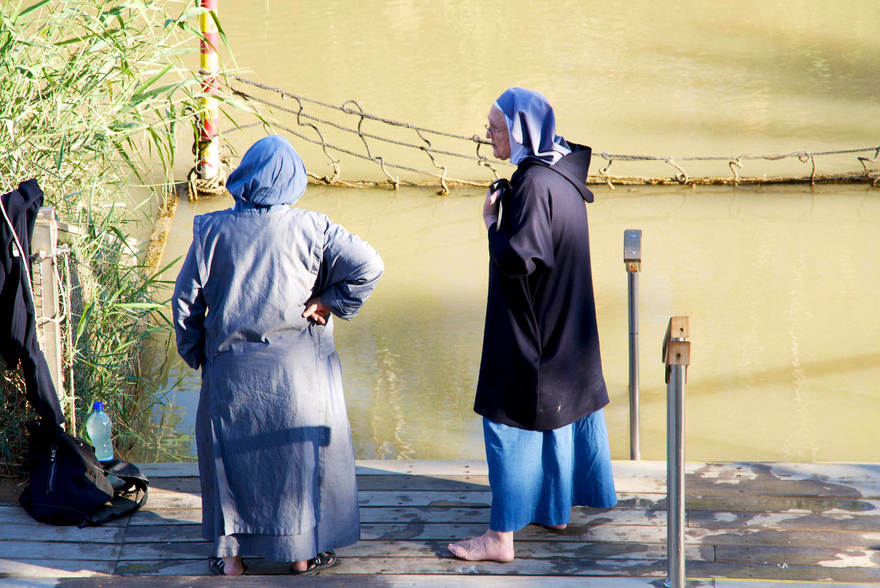Two Nuns (from Spain) at Baptismal