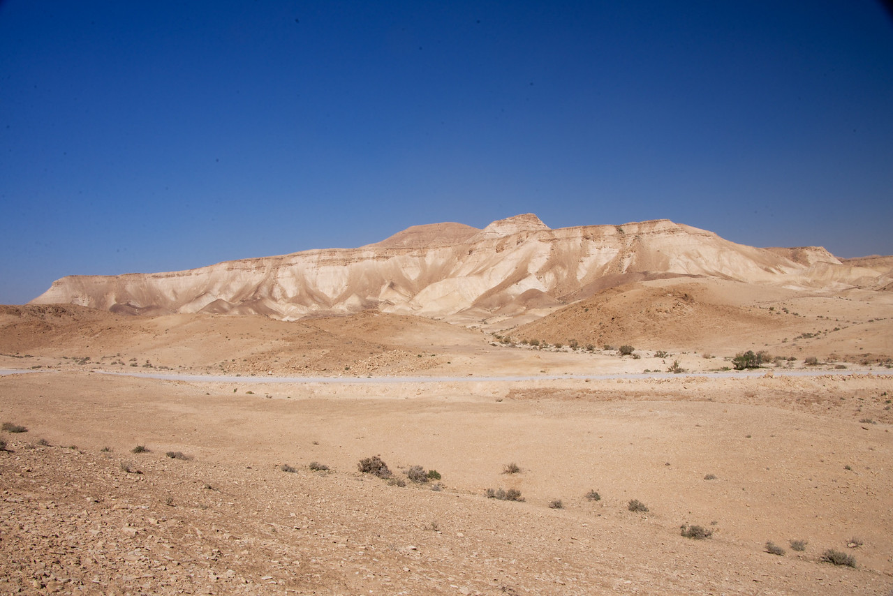View from Car of Terrain at Nahal Dragot (more popularly known by its Arabic name, Darga)
