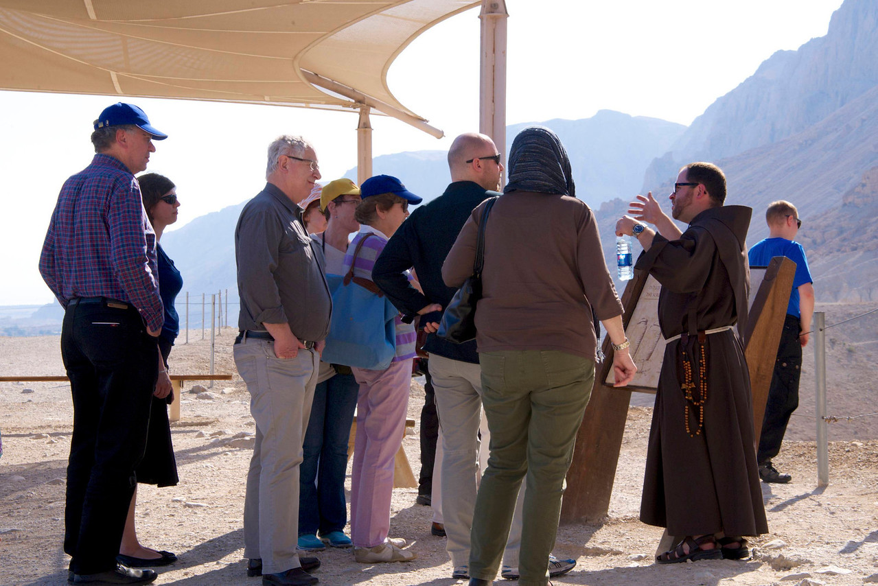 Group of German Christians at Qumran Where Dead Sea Scrolls Were Found