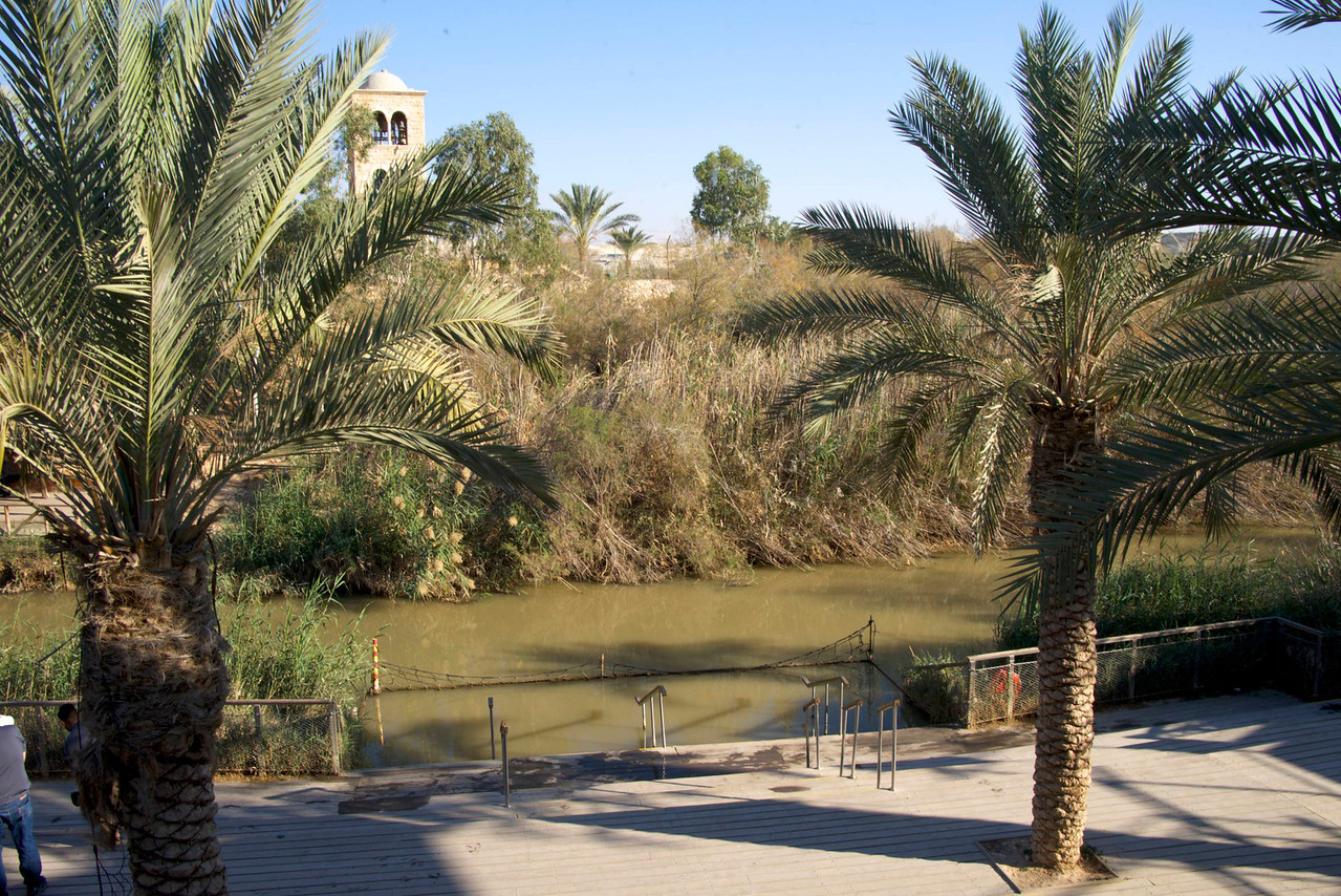 Israeli Side of Jordan Baptismal Area, Qasar El-Yahud  Jordan Across The River