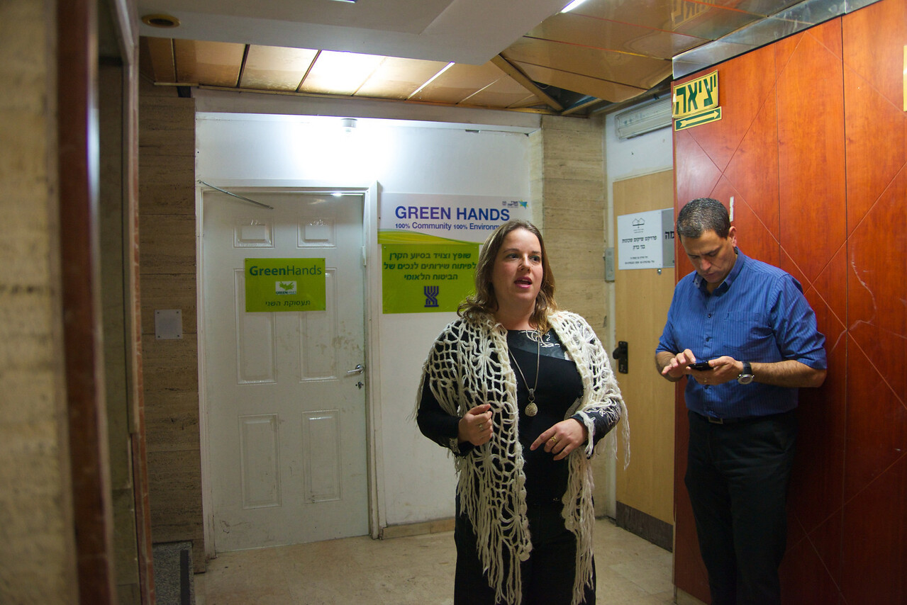 Hadas Yafe Greets Us For Our Tour of Green Hands