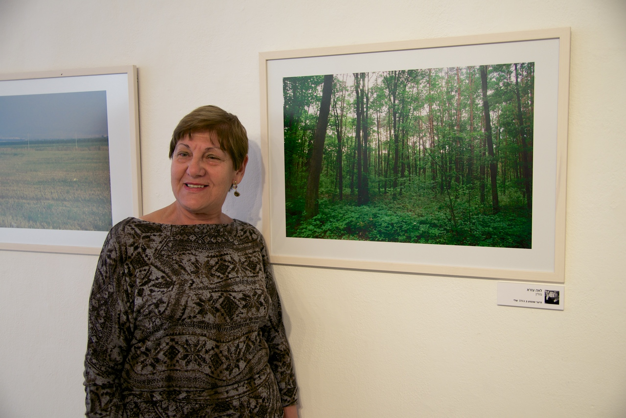 """This photo exhibit """"Photos in Ageing"""" showcases the work of Holocaust survivors who participate in photography workshops throughout the year  The Woman is The Photographer of The Picture Entitled """"Forest Where My DNA is Planted"""""""