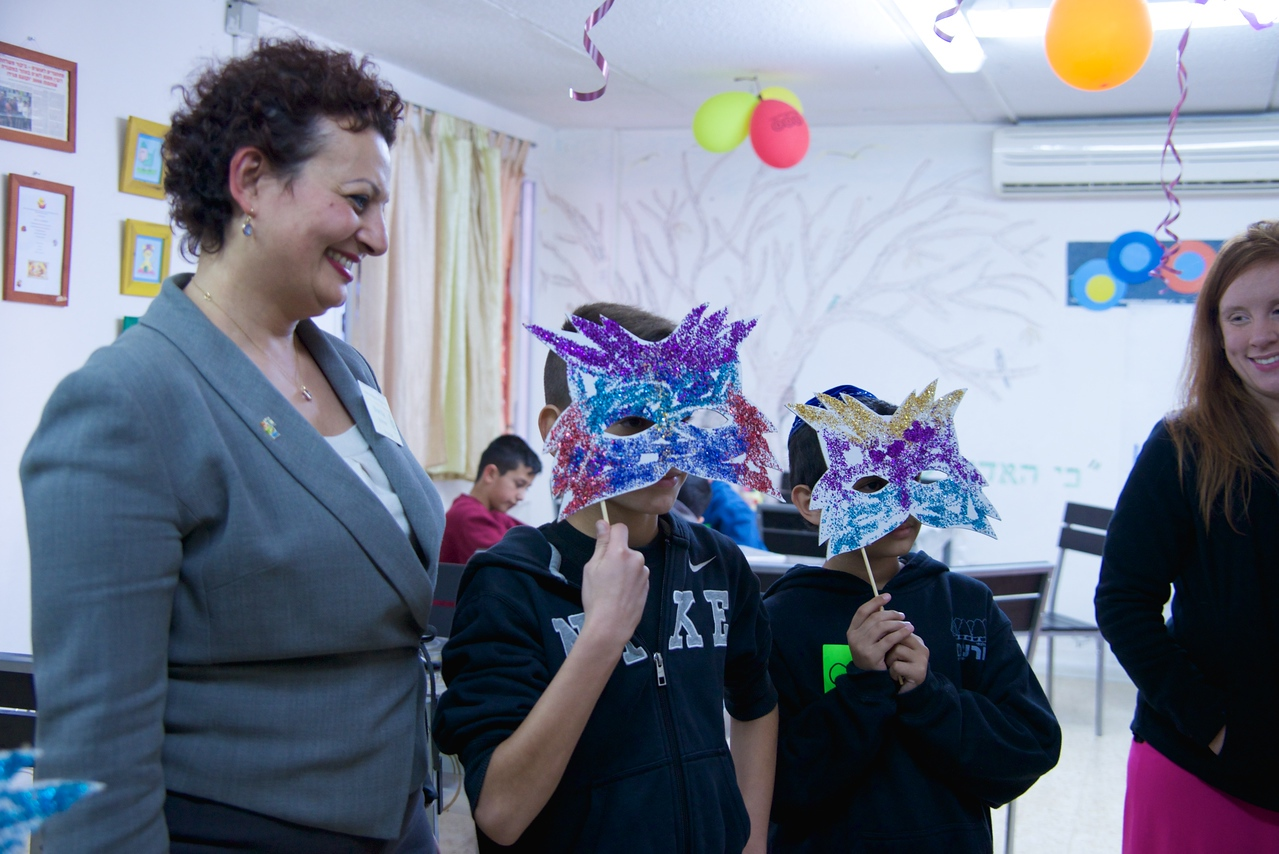 The Kids Made Purim Masks As Gifts For Us