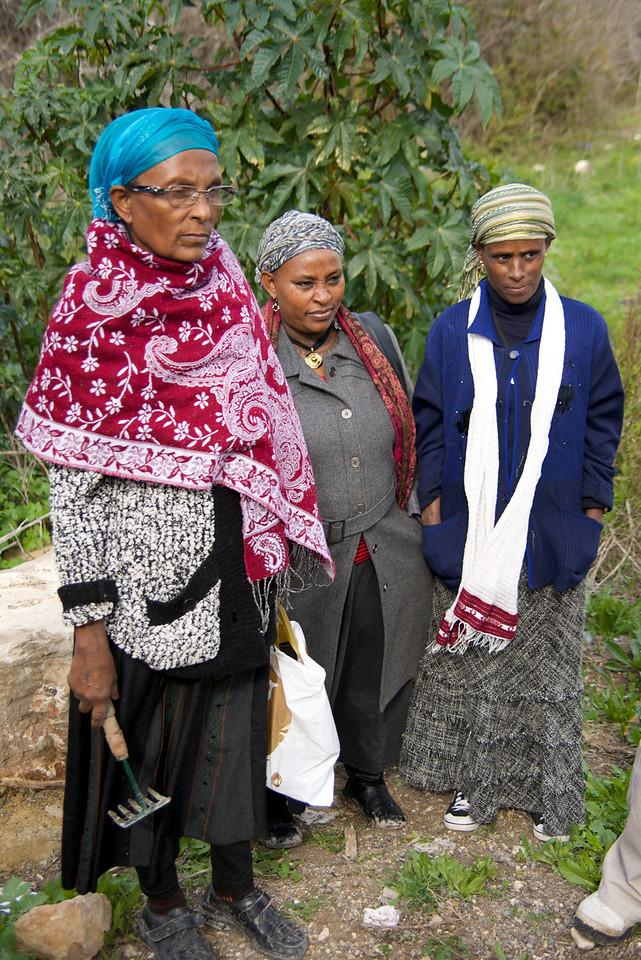 Ethiopian adults that volunteer weekly in Leket Israel