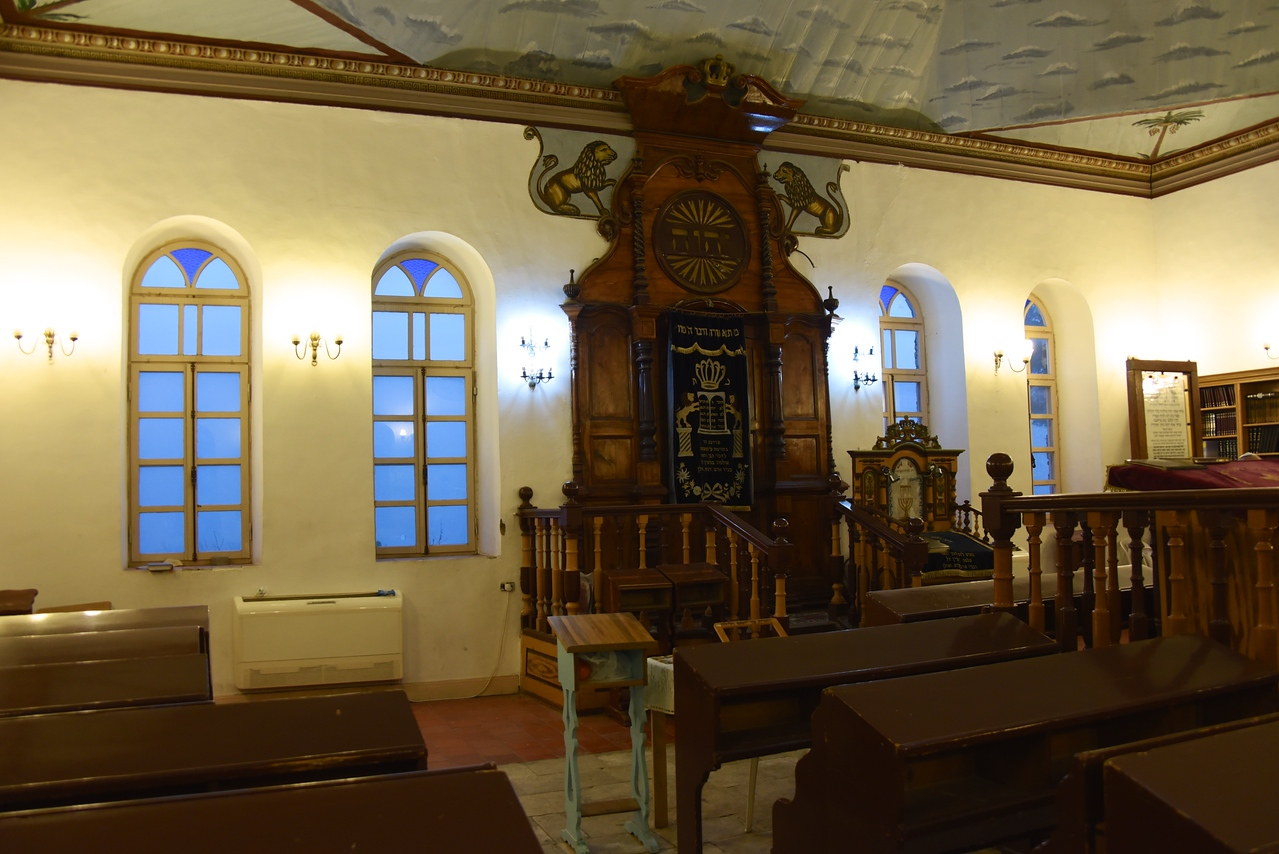 The Rosh Pina Old Synagogue Was Reconstructed and Preserved a Few Decades Ago and Today One Can Enter It and View Impressive Items Which Were In It Since Its Beginning  Holy Ark Made of Cedar Trees from Lebanon  The Large Windows of the Rosh