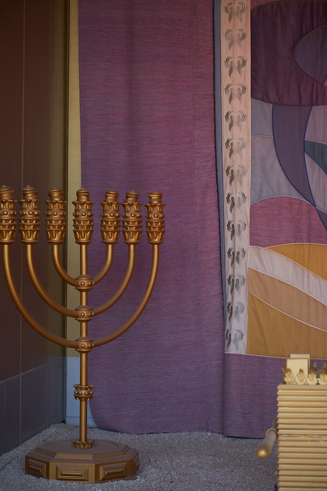 "The Golden Menorah is the 3rd piece in ""the holy place""."
