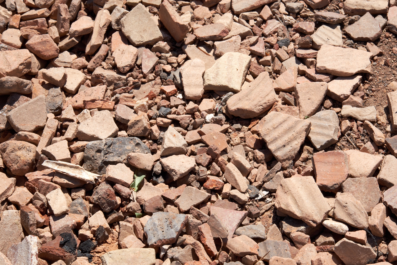 Pottery chards at the site.