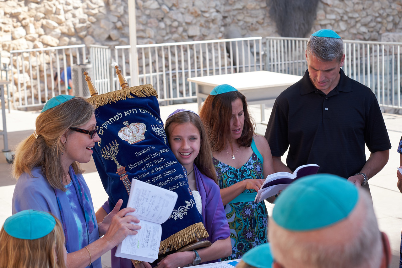 Preparing to carry the Torah.