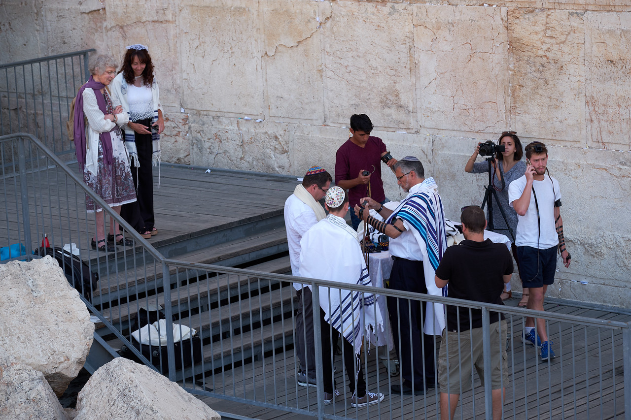 Bar Mitzvah at Robinson's Arch, The Western Wall.