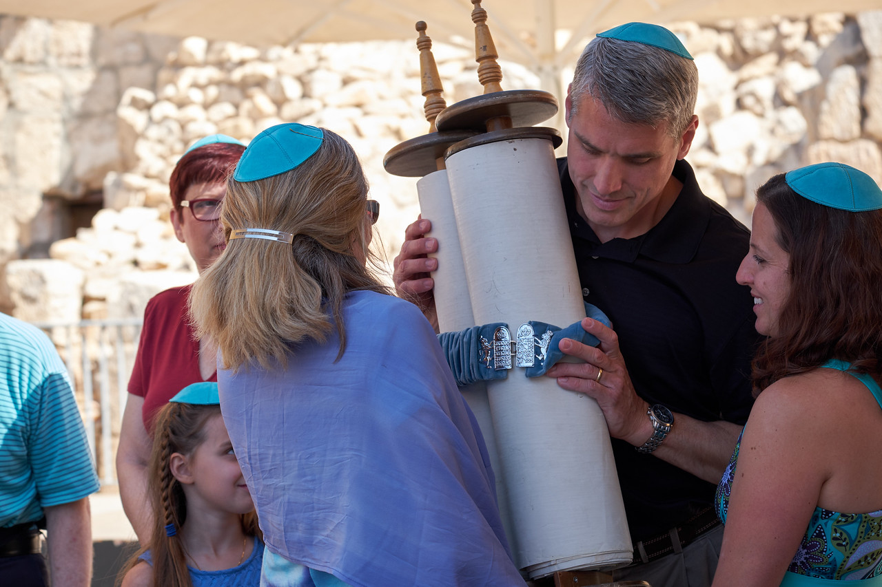 Jeff touches Torah