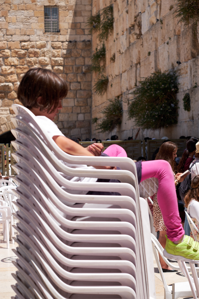 Sitting tall at the womens section of Western Wall.