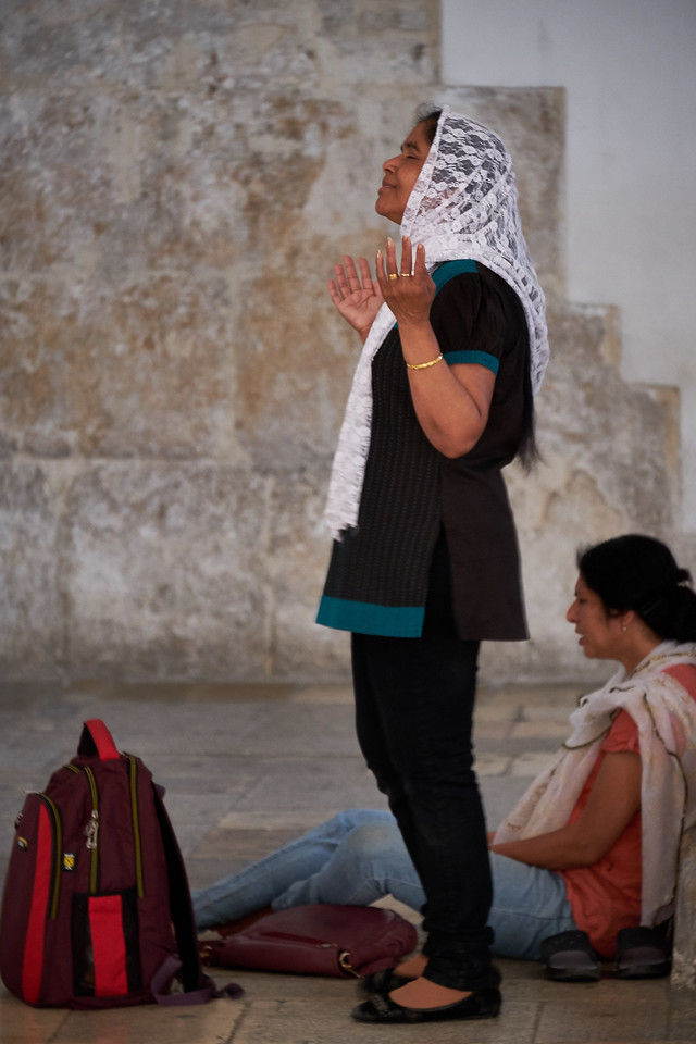 Women praying in the hall (built in Middle Ages) where Christian tradition says Jesus celebrated the Passover Seder with his disciples just before the crucifixion.