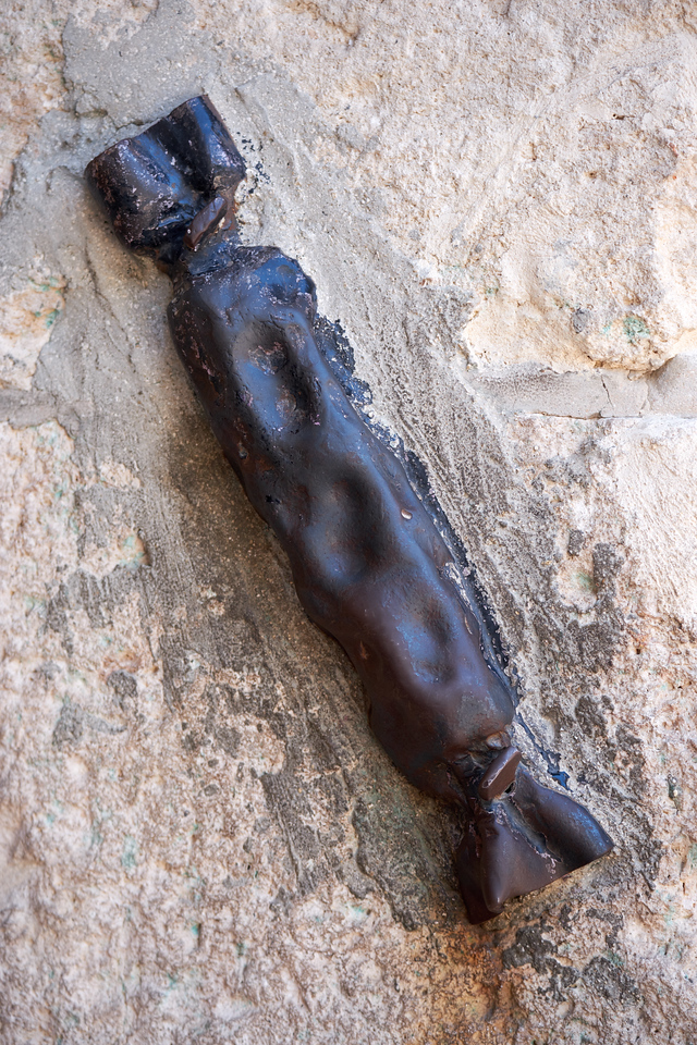 The mezuzah on the Zion Gate is fashioned from bullet casing from 1948 War of Independence.
