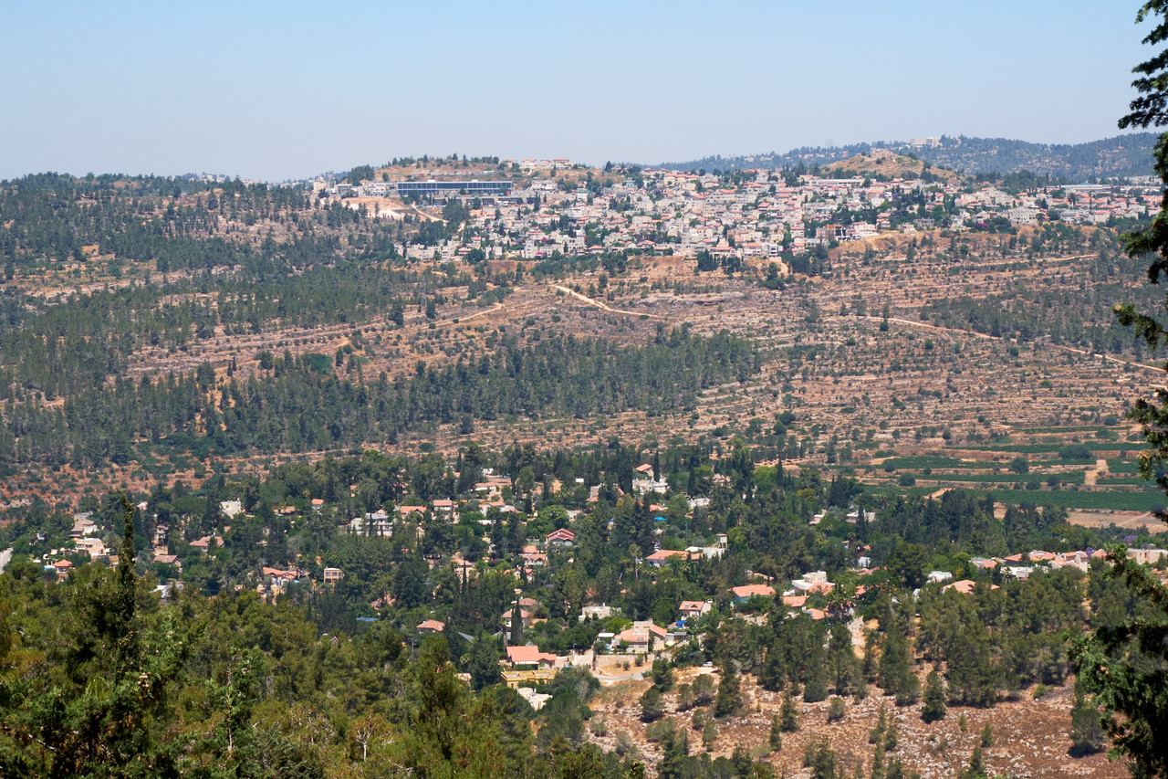 As one exits Yad Vashem this is the view one sees of Jerusalem.