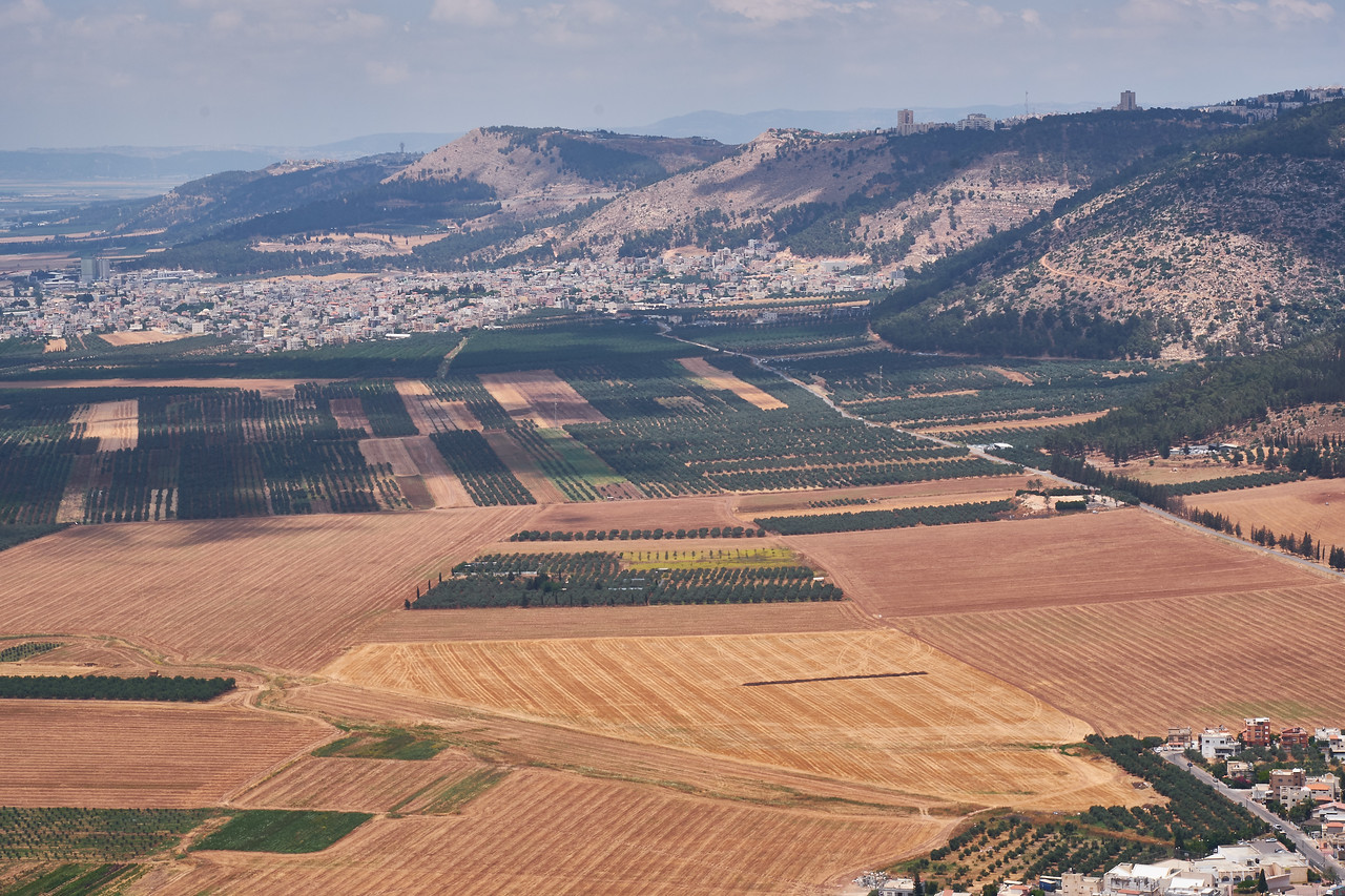 Another view of Jezreel Valley with Mt. Carmel range on the right.