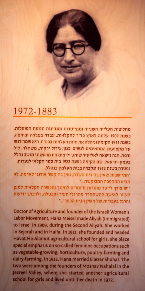 Picture of Hana Meisel founder of the Israeli Women's Labor Movement.