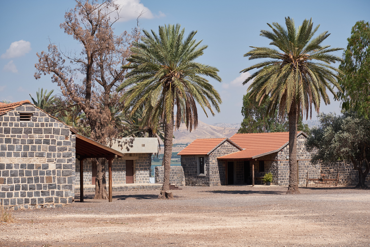 Part of the Kinneret National Farm complex. Dining Hall is building on the right.