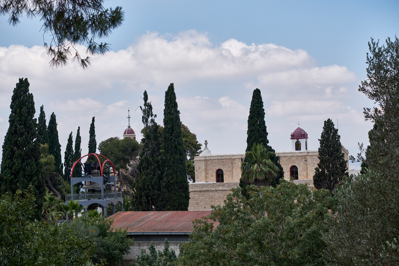 View of Greek Orthodox Church from Franciscan Church. Only Greek Orthodox are allowed to visit.