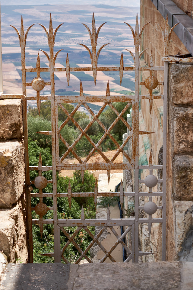 Loved the gate with Jezreel Valley below.